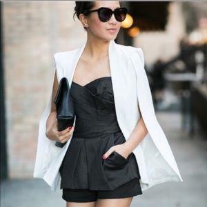 Zara White Cape Blazer Jacket Bloggers Favorite